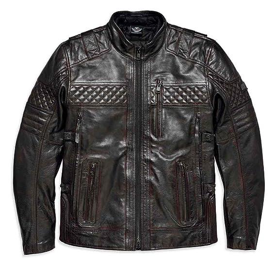 e6aa2198923 Harley-Davidson Men s Triple Vent Ironstone Leather Jacket 97193-18VM  (3XLT) Brown