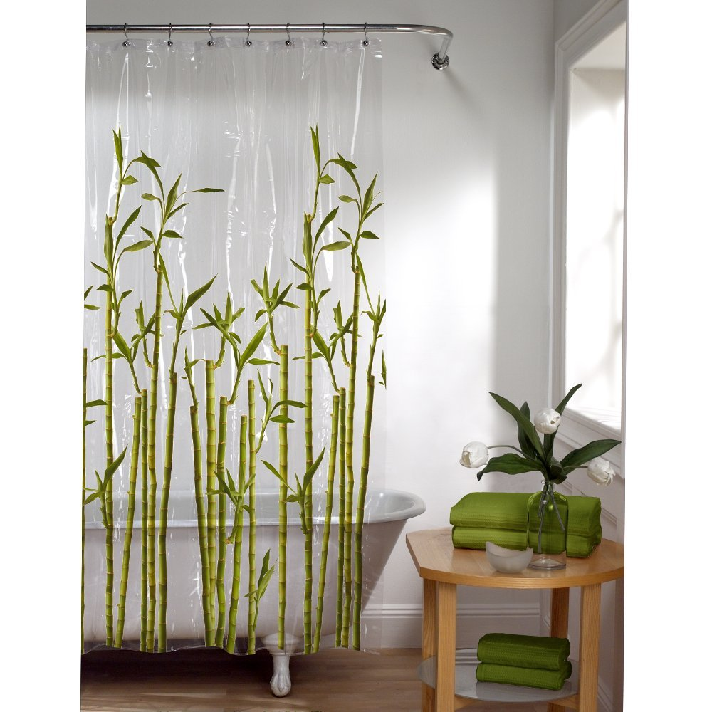 Amazon Maytex Bamboo Photo Real PEVA Vinyl Shower Curtain Home Kitchen