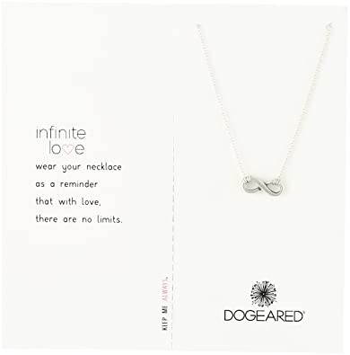 Amazon dogeared infinite love sterling silver infinity charm dogeared quotinfinite lovequot sterling silver infinity charm necklace aloadofball Image collections