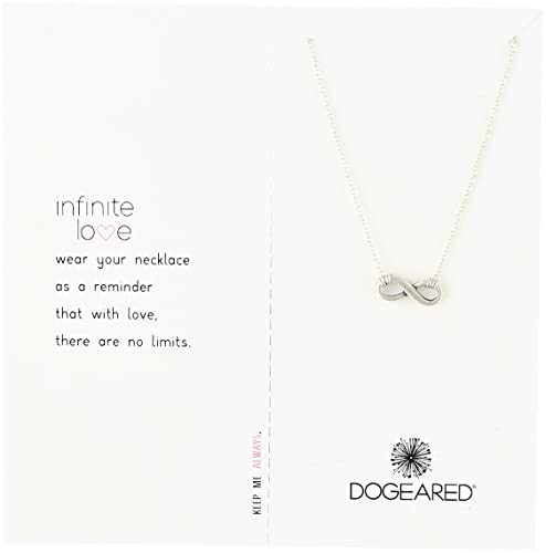 Dogeared infinite love infinite love silver chain necklace 16 dogeared quotinfinite lovequot infinite love silver chain necklace aloadofball Image collections