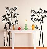 Decals Design 'Beautiful Bamboo Tree Black' Wall Sticker (PVC Vinyl, 90 cm x 60 cm, Black)