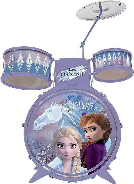 Bateria Infantil Brinquedo Disney Frozen 2 Menina 4 a 6 Anos