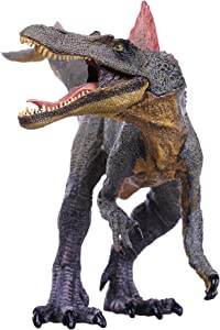 Higherbros Spinosaur Dinosaurs Action Figure Jurassicr World Green Science Education Toy Kids Favorite Gift (Red Brown)