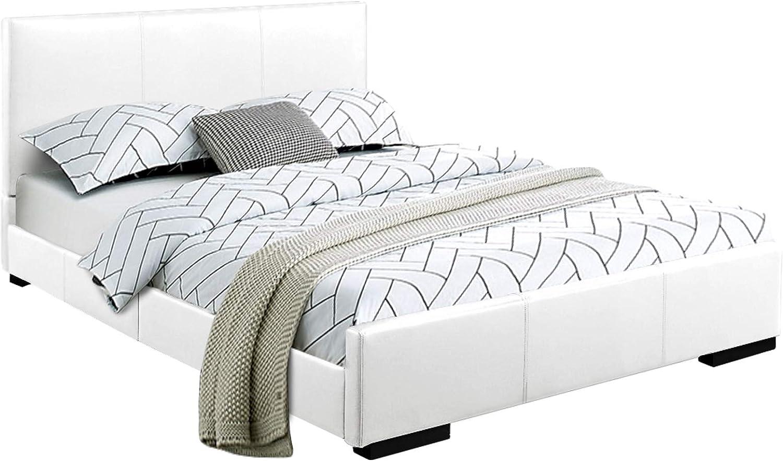 Amazon Com Camden Isle Abbey Platform Queen White Furniture Decor
