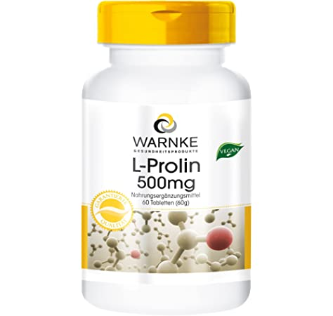 L-Prolina 500mg – Vegana – 60 comprimidos: Amazon.es: Salud y ...