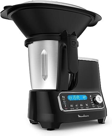 Moulinex ClickChef HF4SPR30 - Robot de cocina multifunción 3.6 l (Recetario en Castellano, 5 programas Auto, temperatura de 30 a 120 ºC, 12 velocidades, 1400 W, 32 funciones, báscula, vaporera) Negro: Amazon.es: Hogar