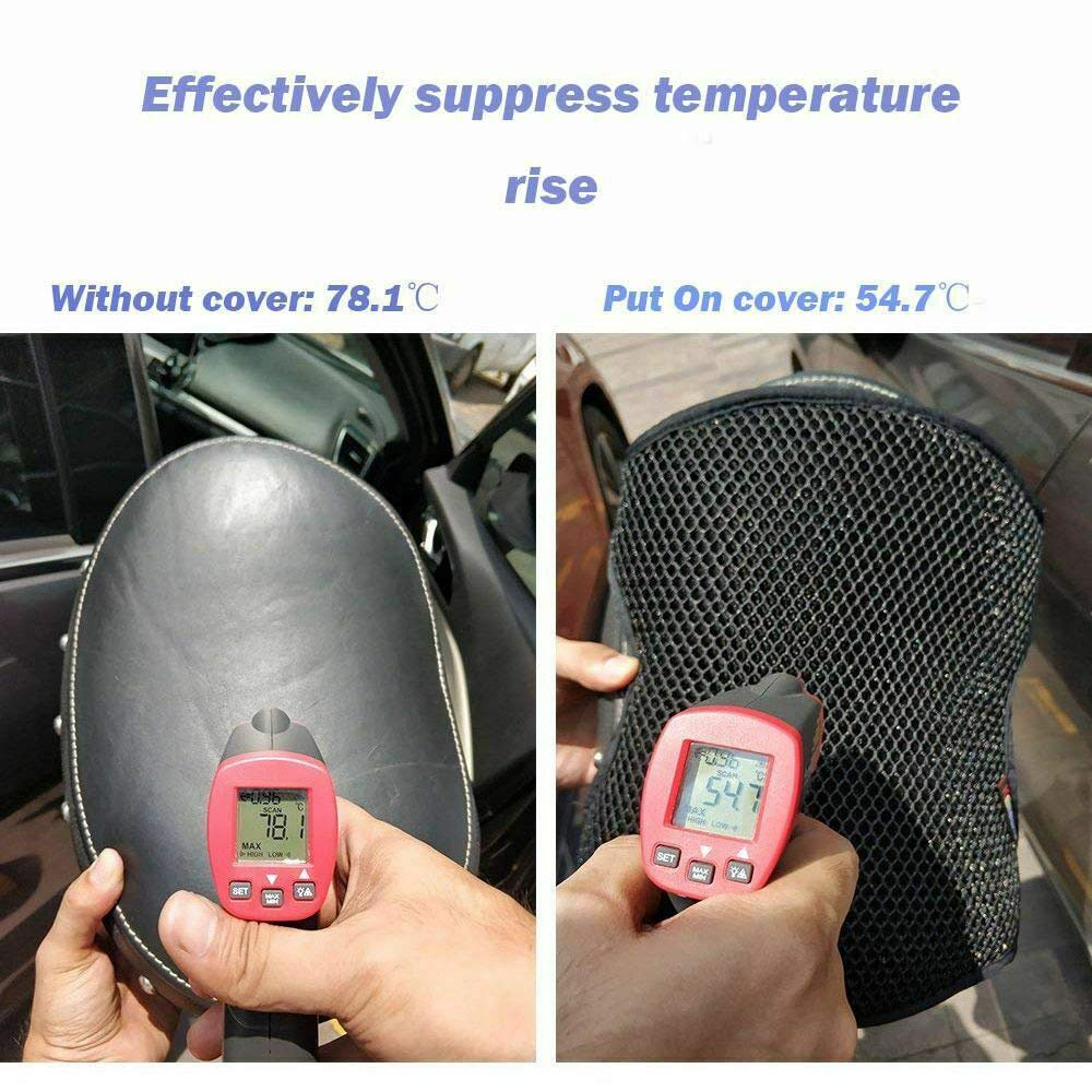 KKmoon Motorcycle Cool Seat Cover Universal Cushion Protector Sunscreen Mat Mesh Seat Sun Pad Motorcycle Accessories
