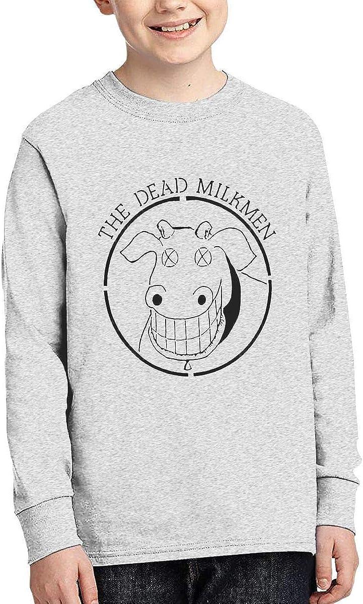 The Dead Milkmen Youth Kids Shirt Ni?os y ni?as Junior Vintage Camiseta de Manga Larga de Algod¨®n con Cuello Redondo Top para Adolescentes