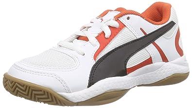 fecdae0da Puma Kids  Veloz II Jr Multisport Indoor Shoes Weiß (White-Black red ...