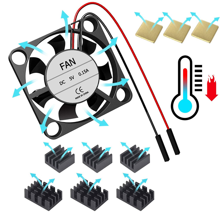 for Raspberry Pi 4 Model B Cooling Fan with Heatsink