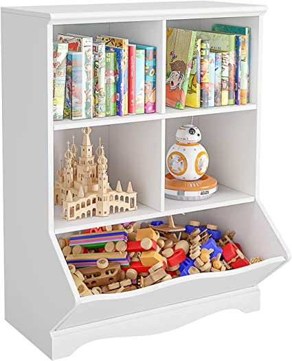 HOMECHO Estantería para Niños Armario Infantil con 5 Compartimentos de Almacenamiento Librería Infantil para Libros y Juguetes para Sala de Niños ...