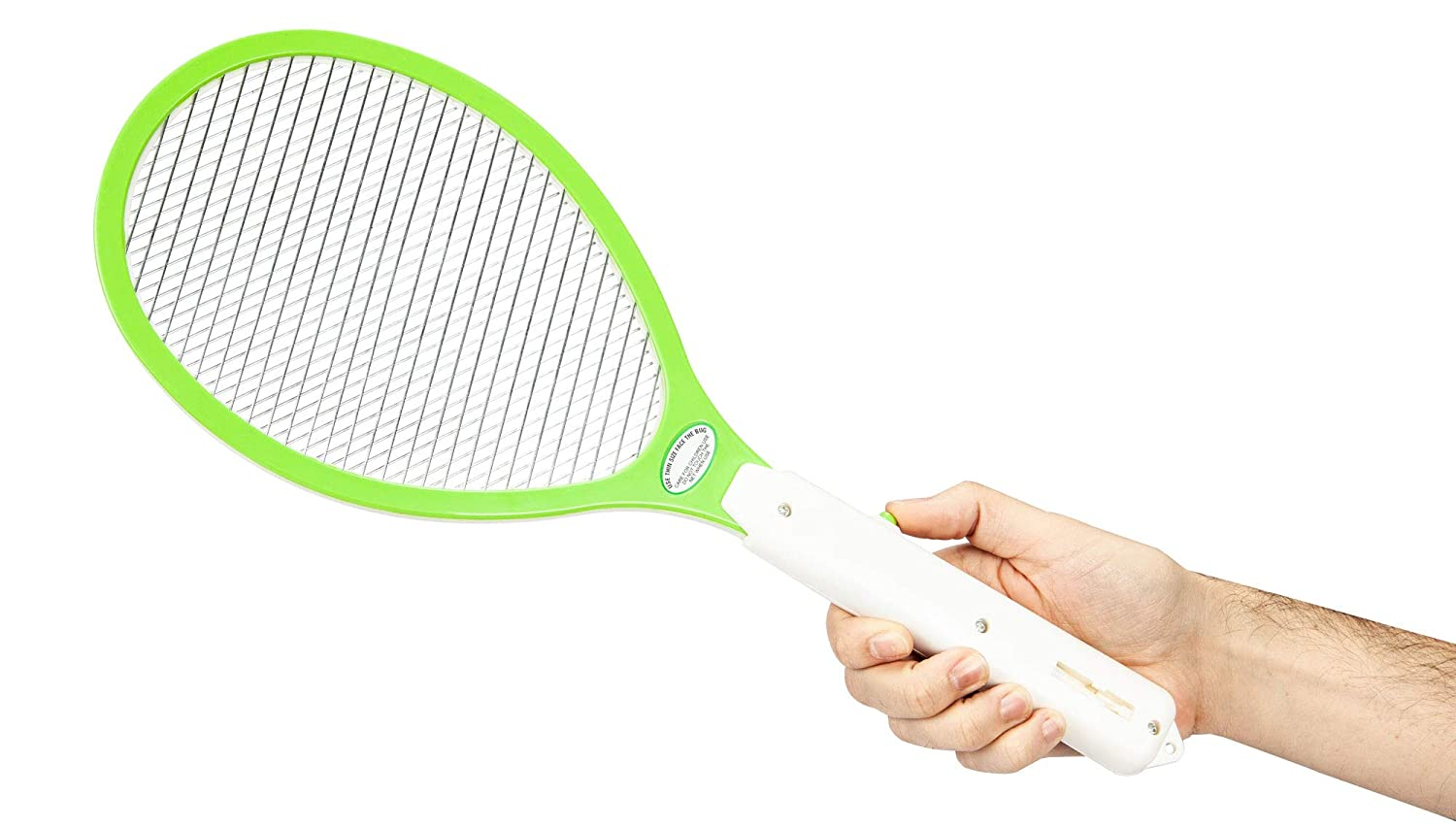 Large Electric Bug Zapper, Electric Fly Swatter with On/Off Switch, Eco-Friendly and Non-Toxic Pest Control, Hand Held Bug Zapper for Indoor and Outdoor Flies, Mosquito and Other Flying Pests
