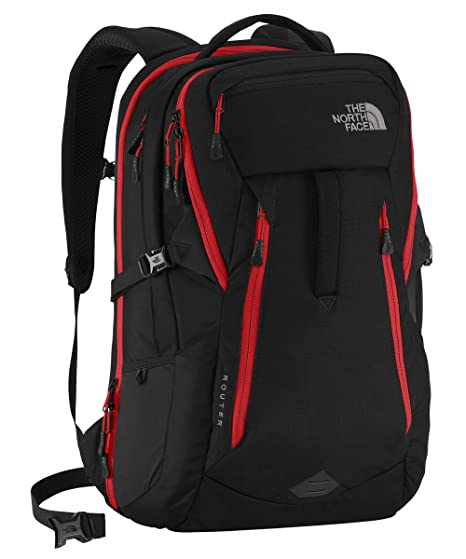 4a7b31e36 The North Face Router Backpack TNF Black/Pompeian Red: Amazon.ca ...