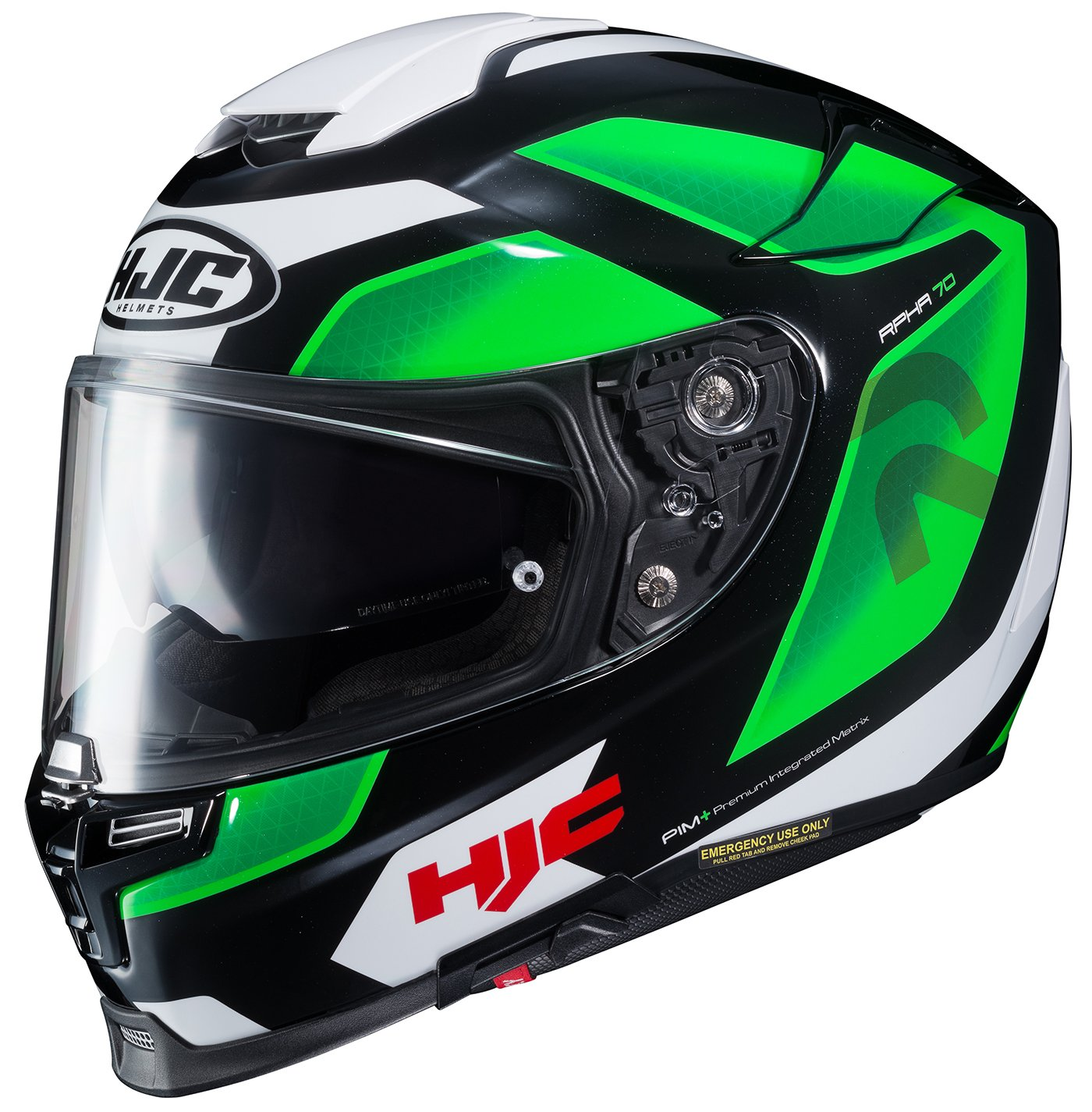 HJC Helmets 1694-943 Green//White//Black Medium Rpha-70 ST Grandal Helmet