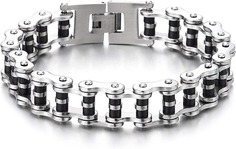 bracelet homme chaine velo argent