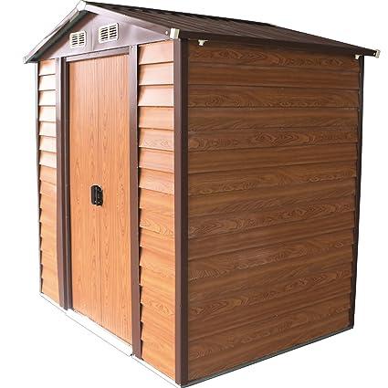Amazon.com: Bestmart INC 6u0027x5u0027 Storage Shed Large Backyard Outdoor Garden  Garage Tool Kit Building Wood Color: Home Improvement