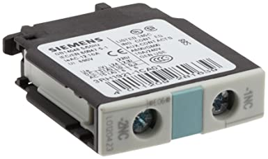 Siemens 3RH19 21-1CA01 Auxiliary Switching Block For Contactor 1 Pole 1 NC Contacts Screw Connection