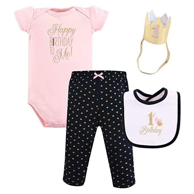 384e39950cff Amazon.com  Hudson Baby First Birthday Outfit Gift Set