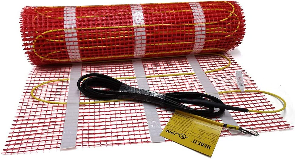 100 sqft HEATIT Warmmat Electric Radiant Self-adhesive Floor Heat Heating System