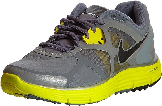 juntos Simular dueño  Amazon.com: Nike Lady Lunarglide + 3 Escudo Zapatillas de running, Gris, 12  B(M) US: Shoes