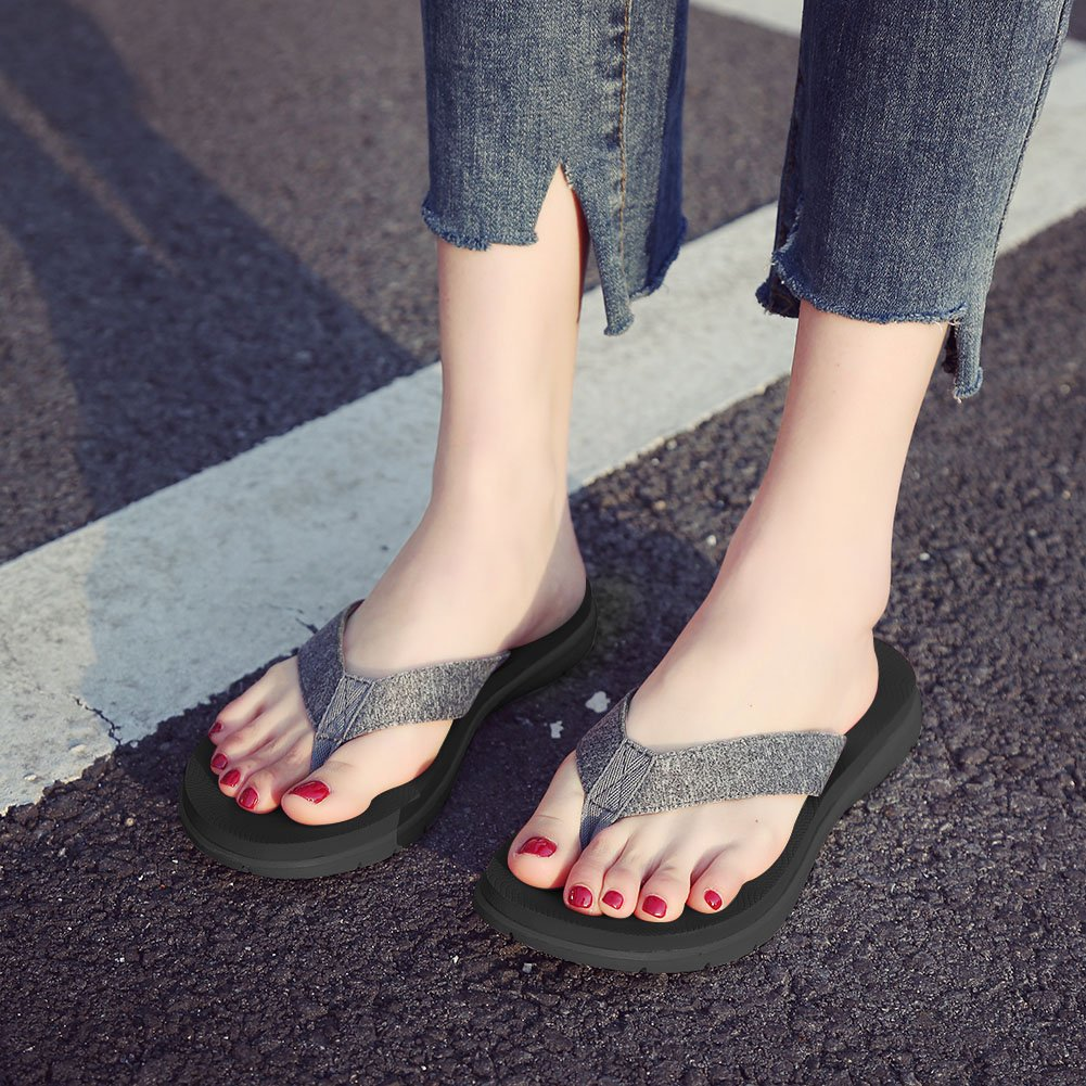 LOVE YANQI Men&Womens Flip Flops Fashion Casual Beach Slippers Sandals Anti-Slip Breathable Fit for Summer by LOVE YANQI (Image #7)