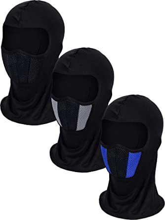 3 Pieces Summer Balaclava Face Cover Breathable Full Face Cover Windproof Full Face Cover for Outdoor Activities Favors Camouflage