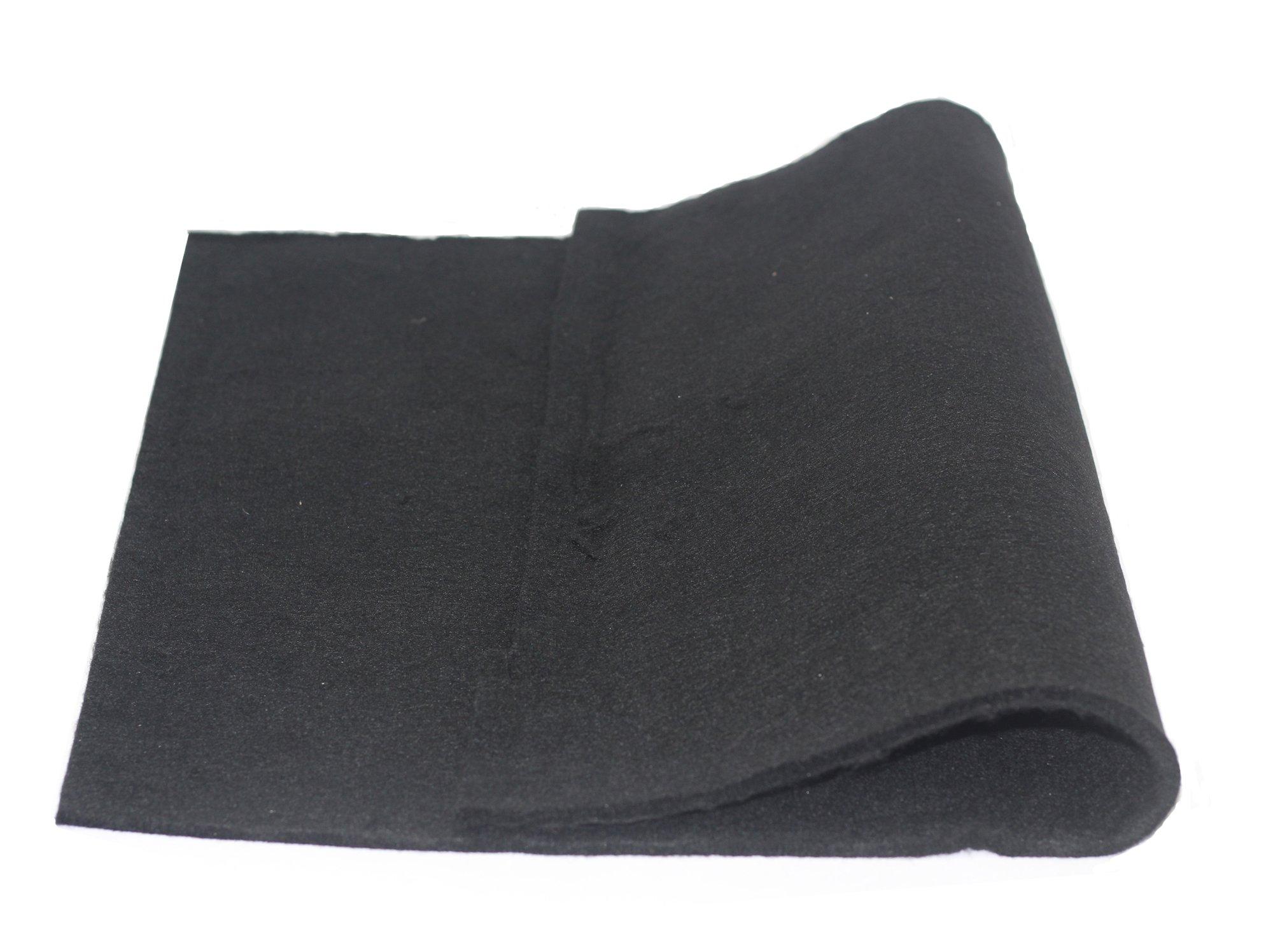 HiwowSport 18 x 24 inches High Temp Carbon Fiber Welding Protective Blanket, Heat Shield Plumbing Heat Sink Slag Fire Auto