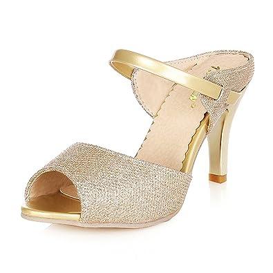 0ddaf94604e3 Good-memories Size 32-43 High Heels Sandals Gold Sliver Ankle-Wrap Women
