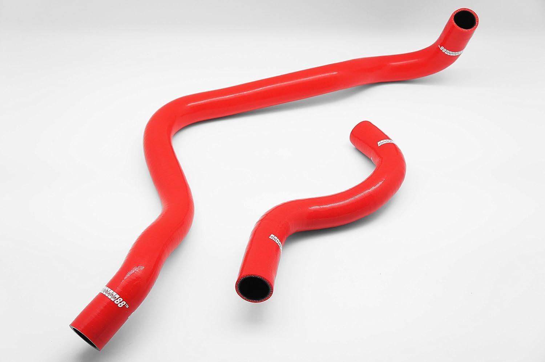 Autobahn88 Kit de la manguera de radiador refrigerante de silicona, Modelo ASHK39-RD-WC (Rojo - con sistema de abrazadera): Amazon.es: Coche y moto