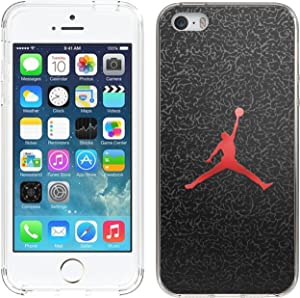 Ailiber iPhone SE Case, Not for SE 2020, Shot Sport Dunk MJ Slim Fit Anti Scratch Shock Proof Fingerprint Lightweight Soft TPU Protector Cover for Apple iPhone 5 5S SE SE 4inch - Basketball