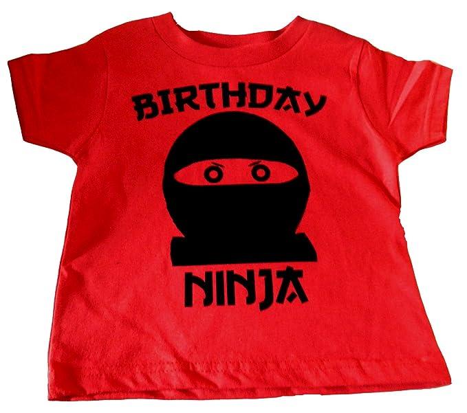 Amazon.com: Custom Kingdom Playera ninja de cumpleaños para ...