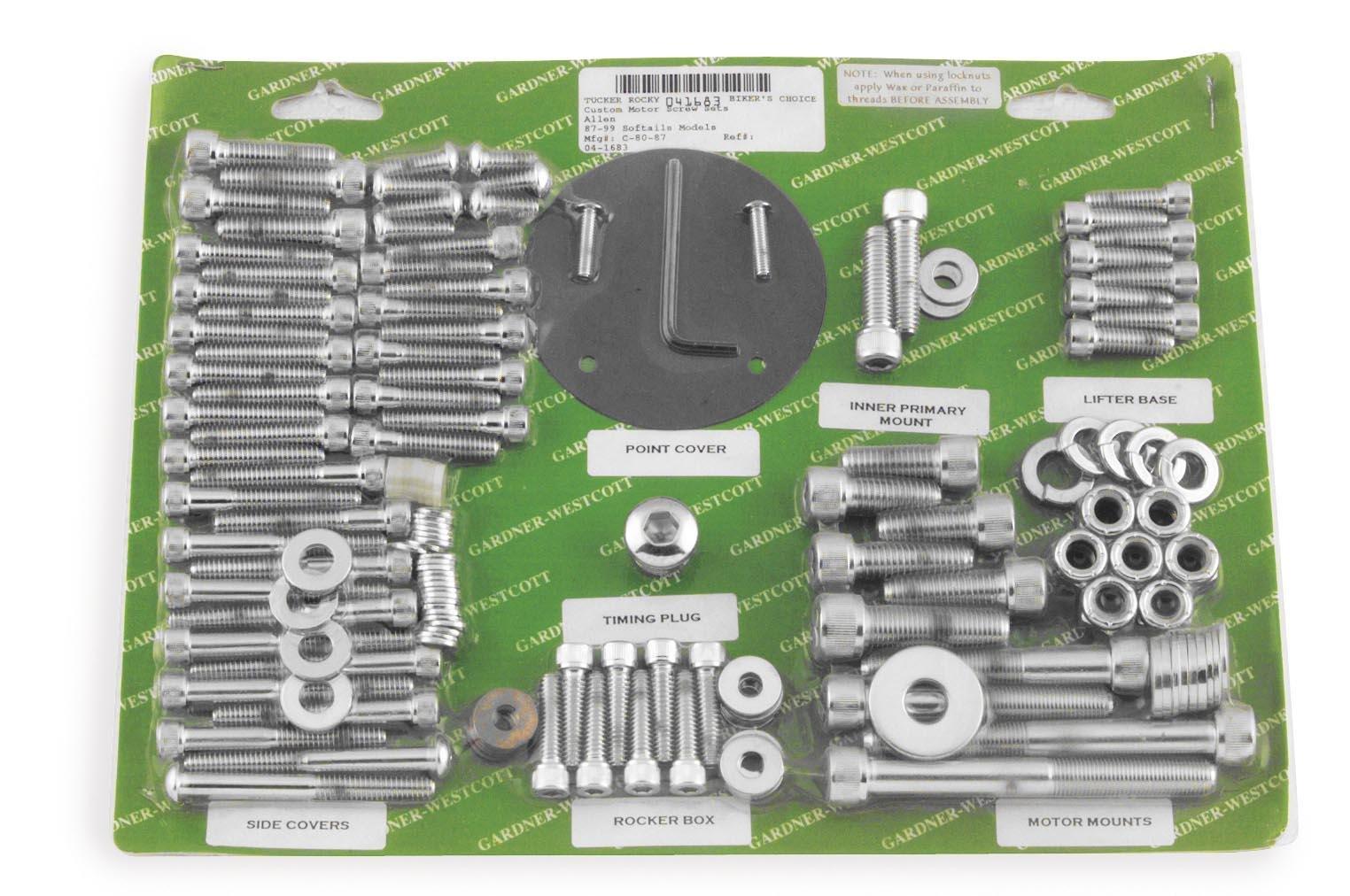 Gardner Westcott Motor Fastener Set for Shovelhead FX and FLH P-74-89