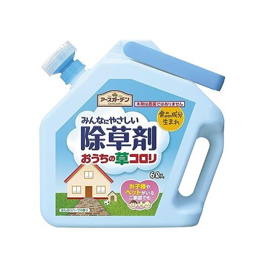 ウッディの人にやさしい除草剤1リットルは、100%天然成分を使用した除草剤。農薬系の薬剤は一切使用しておらず無臭なので、お子さんやペットのいる家庭でも使いやすい。薄める必要はなく、そのままシャワー口から撒くことが可能。