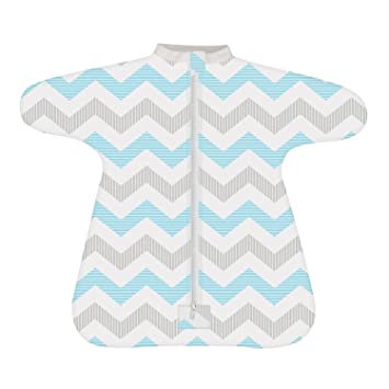 Amazon.com  Cozy Baby Sleeper Swaddle Wearable Blanket by Revelae - Spunky  Chevron - 6-9 Month  Baby b0ccb623b