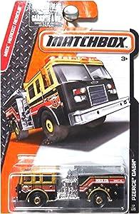 Matchbox, 2016 MBX Heroic Rescue, Pierce Dash Fire Engine [Black] 77/125