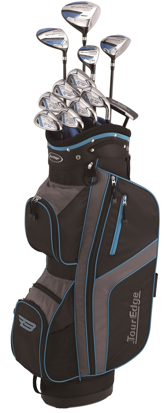 Tour Edge Bazooka Men's 360 Box Set, Right Hand, Black/Blue by Tour Edge (Image #1)
