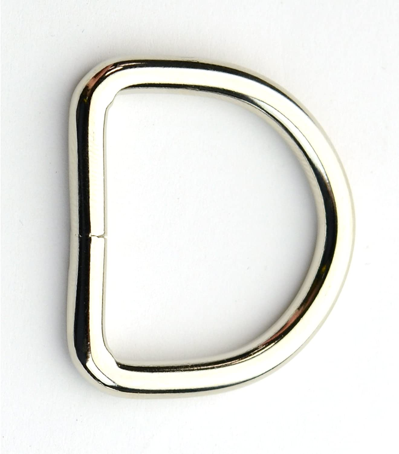 25 Country Brook Design 1 Inch Brass Plated Welded D-Rings