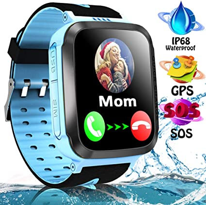 iFunplus Kids Waterproof Smartwatch Phone Girls Boys with GPS Tracker Two Way Call SOS 1.44