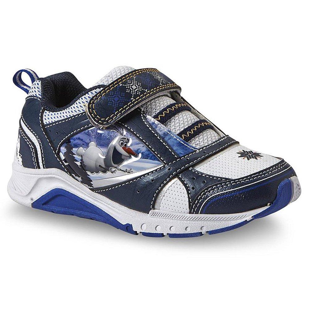 d4781e938040 Disney Olaf Toddler Boy s White Blue Light-Up Sneaker (7 Toddler)