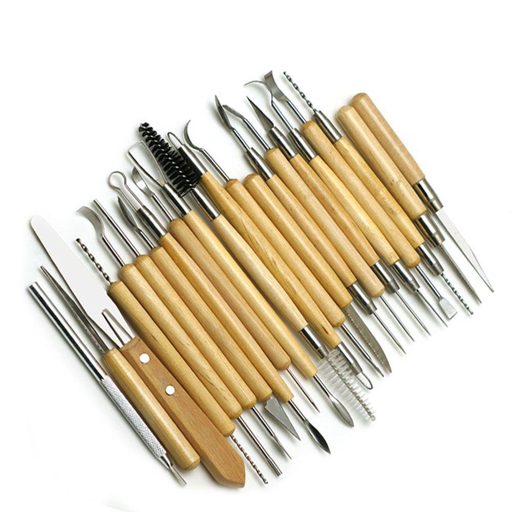 Tolyneil 22PCS Clay Sculpting Tools Keramik Carving-Werkzeug-Set, Keramik Keramik Clay Einzug Werkzeuge Set