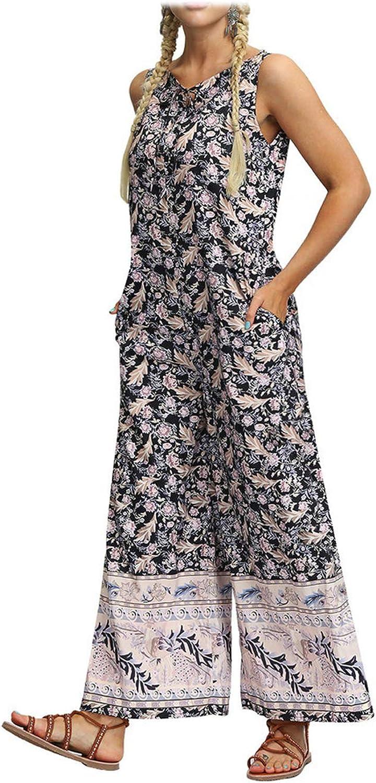 Overalls Jumpsuits Elegant Plus Size Women O Neck Jumpsuit Loose Playsuit Gym Jogging Harem Pants Baggy Palazzo Trouse,Multicolor,M,United States