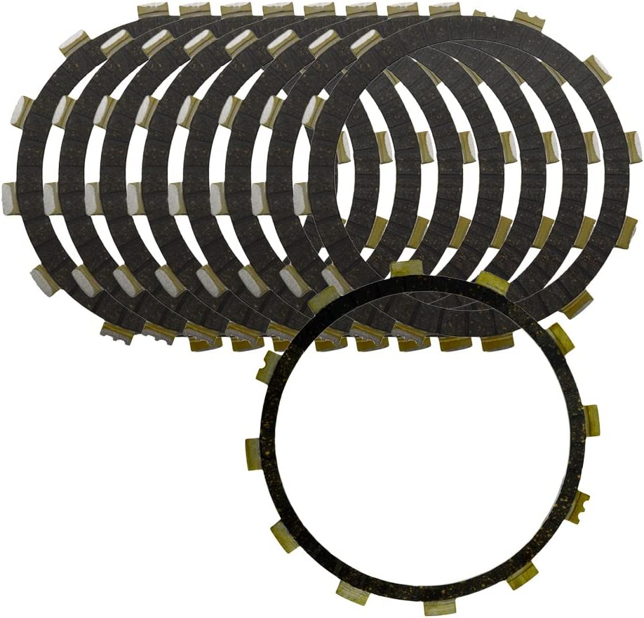 2002-2014 with Flames AHL 9pcs Clutch Friction Plates Kit for Yamaha XV1700 Road Star Warrior //
