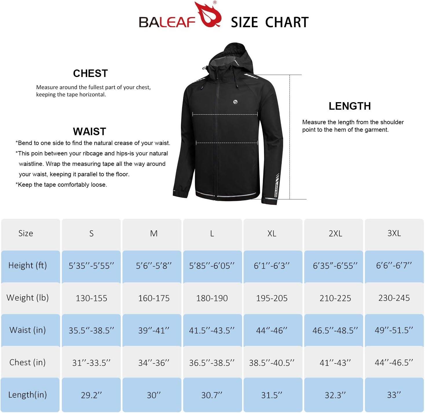 BALEAF Mens Cycling Running Jackets Lightweight Waterproof Sport Track Windbreaker Hooded Packable