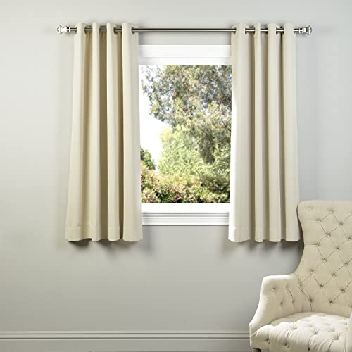 HPD Half Price Drapes BOCH-120601-63-GR Eggnog Grommet Blackout Room Darkening Curtain 1 Panel