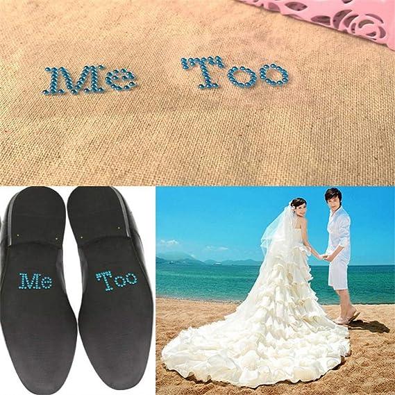 Amazon.com  1 Set I Do Me Too Bridal Groom Shoe Sticker White Clear  Rhinestone Wedding Decor (White) 66d9240cbea4