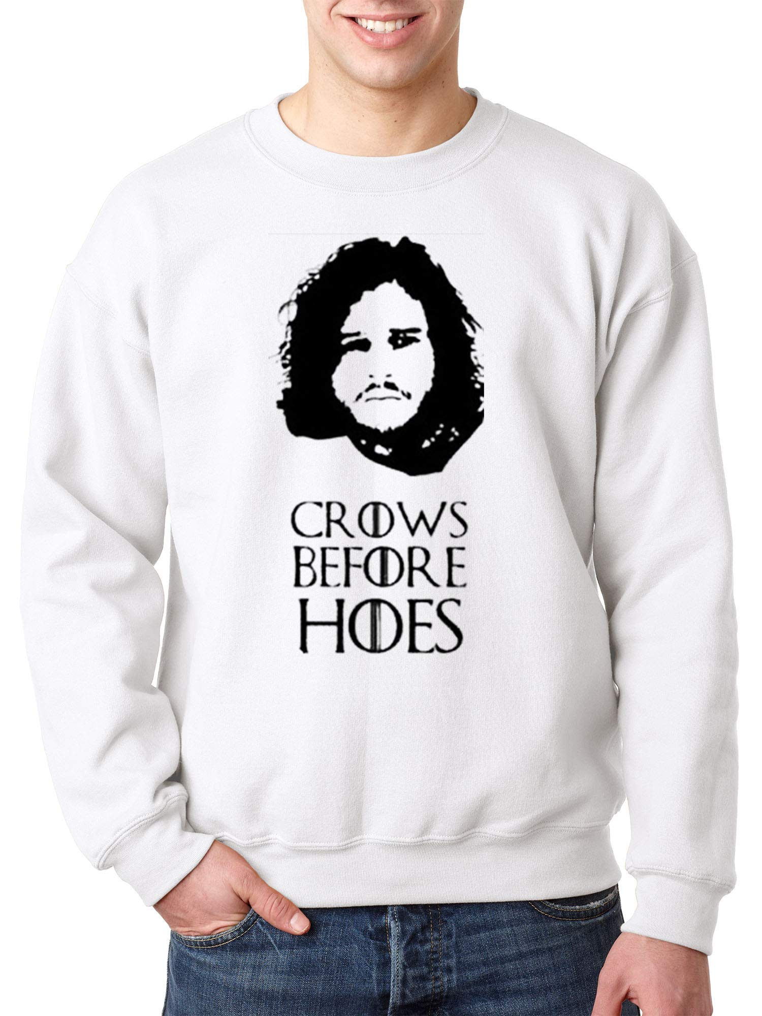 114 Crewneck Crows Before Hoes Jon Snow Unisex Pullover 1683 Shirts