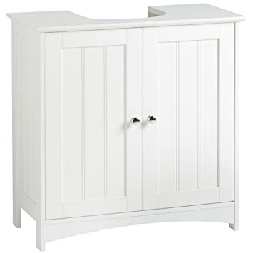 VonHaus Under Basin Storage Unit - White Colonial Style Bathroom Cabinet  sc 1 st  Amazon UK & VonHaus Under Basin Storage Unit - White Colonial Style Bathroom ...