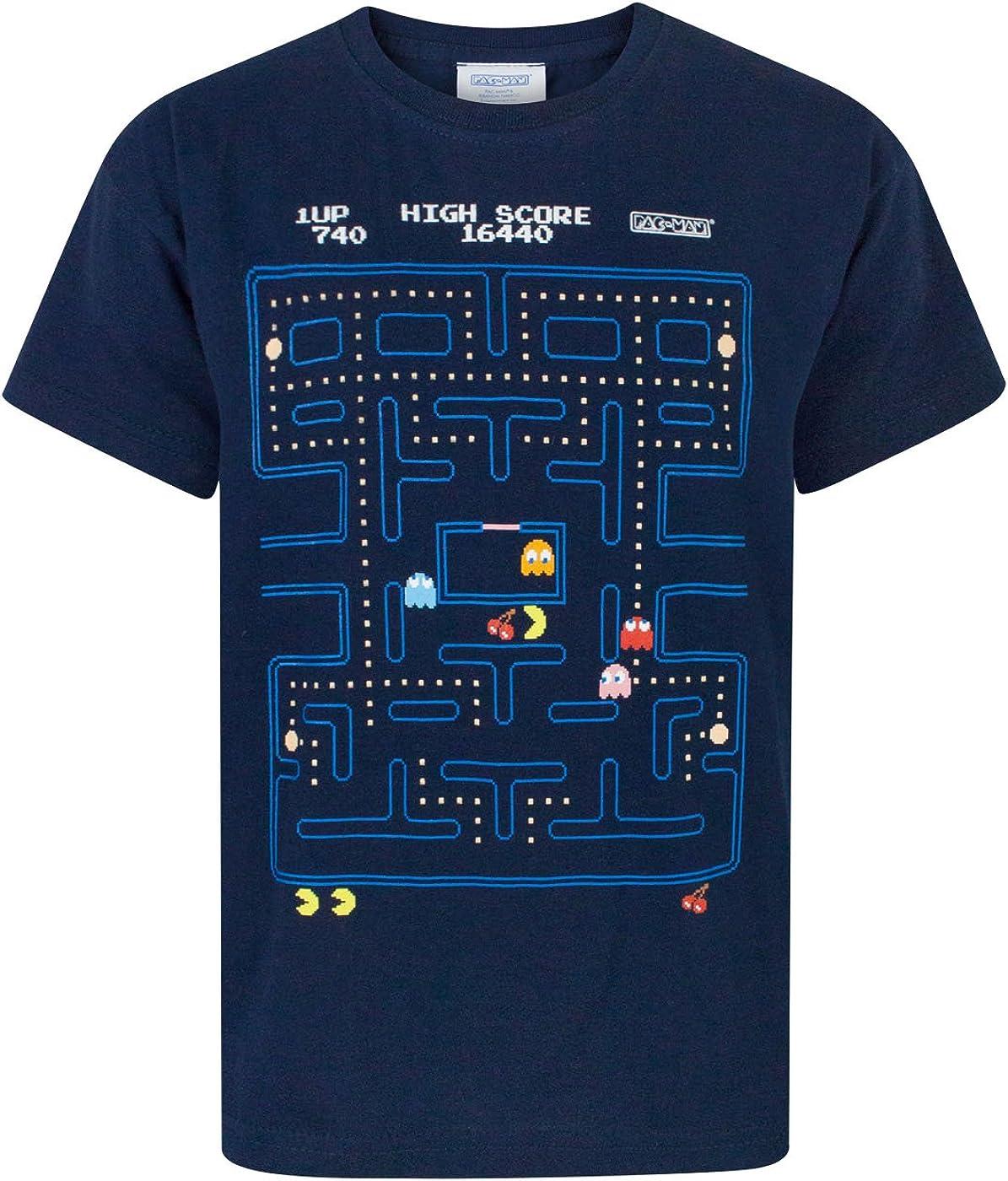 Pacman Classic Action Scene Boys T-Shirt