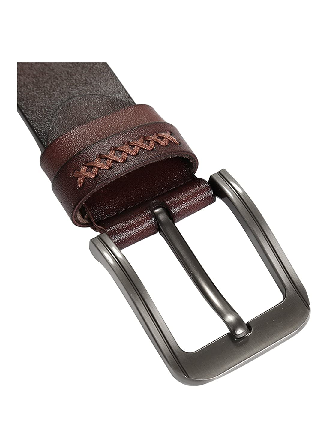uxcell Men Adjustable Casual Business Alloy Pin Buckle Belt Width 1 1//2