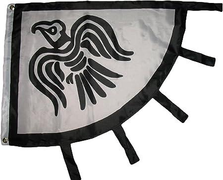 Amazon.com: Viking Raven Blanco y Negro 3 X 4 Bandera Banner ...